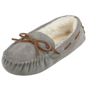 [NEW] CLOVERLAY Women's Moccasin Faux Fur Slippers Moccasin Comfortable Slippers
