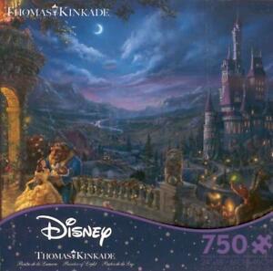 Thomas Kinkade Jigsaw Puzzle Beauty and the Beast Dancing in the Moonlight NIB