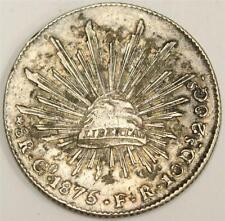 1875 Go FR Mexico 8 Reales silver coin VF30