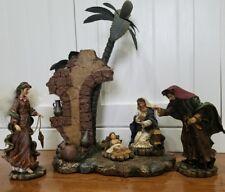 Treasured Craftsmanship 2003 The Bombay Company Christmas Nativity Scene RARE