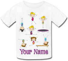 Gymnastic'S Dance Personalised Sublimation Girl'S T-Shirt - Named Kid'S Gift