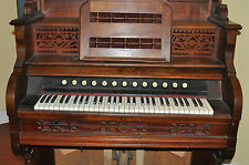 Antique Parlor Pump Organ 1886 Clough and Warren