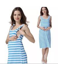 Nursing Breastfeeding summer Stripe dress Size L / 12 BNWT