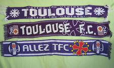Lot 3 echarpe de supporter Toulouse Football Club TFC vintage scarf