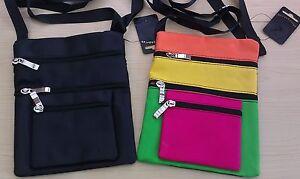 BNWT Accessories Small Cross Body/Hip Bag 4 Zip Pockets 20.5 x 17.5 cm 2 Colours