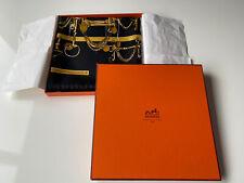 BNIB RARE Hermes Paris silk scarf carre 90cm Mors Et Filets MINT Limited Edition