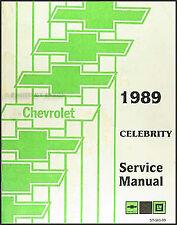 1989 Chevrolet Celebrity Shop Manual 89 Chevy Original Repair Service Book OEM