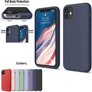 Silicone Case For iPhone 12 Pro Max 11 XR SE 2 Soft Genuine Liquid Rubber Cover