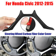 For Honda Civic 2012 2013 14 2015 Steering Wheel Carbon Fiber Cover Panel