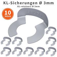 10x KL-Sicherungen Ø 3mm Wellensicherung für Wellen Bolzen verzinkt KL Sicherung