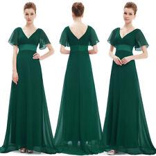 Ever-Pretty Dark Green V-Neck Evening Gowns Long Bridesmaid Dresses 09890
