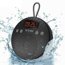 Wireless Bluetooth Speaker Waterproof 5W FM Radio Alarm Stereo With Microphone