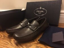 NEW PRADA  MORO LOAFERS VINTAGE LOAFERS 2DD001 DRIVERS MENS 9PRADA 10US BROWN