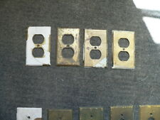 4 Antique brass wall plate covers! Push button, outlet cover, VINTAGE, SWITCH !