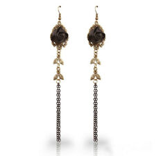 New Gothic Women Ear Studs Handmade Black Rose Vintage Lace Earrings