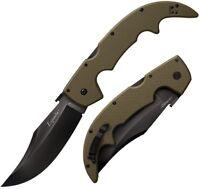 "Cold Steel Espada Large Folding Knife 5.5"" Coated CTS-XHP Steel Blade G10 Handle"