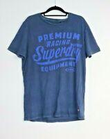 SuperDry Men's Blue T-Shirt Premium Racing Equipment Size M