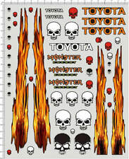 1/10 1/12 Self Adhesive Sticker decal Toyota for model kits 20105