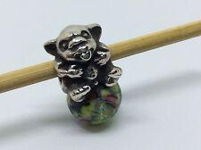 Original Trollbeads Babytroll Trollbaby 925 Silber mit bunter Glaskugel