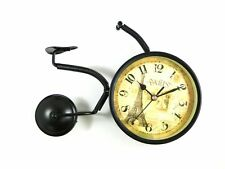 Bicycle Vintage French Style Clock Free Standing Mantle Antique Look Art Clock