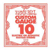 Ernie Ball Single Guitar String Nickel Plain PO1010 * Gauge .10 *