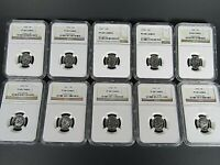 1955 P  to 1964 P, 10-Coin Set, Roosevelt Dimes  NGC Pf 68 Cameo, Beautiful Set