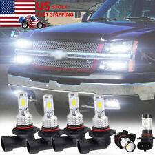 For Chevy Silverado 1500 2500 HD 2004-2006 LED Headlight + Fog Light Bulbs Combo