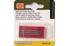 Proxxon 28752 Fraises Métal Dur - Tungsten carbide millers 3pcs