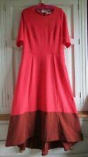 BN Boden Wren Ponte Midi Jersey Autumn Dress UK 10 Peony / Conker