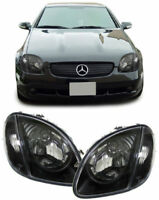 SMOKED HEADLIGHTS HEADLAMPS FOR MERCEDES SLK R170 04/1996-04/2004 MODEL BLACK