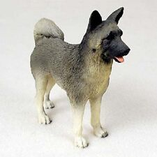 New ListingAkita Gray Dog Hand Painted Figurine Resin Statue Collectible Grey Puppy New