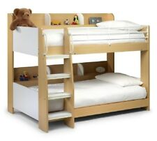 New Stunning Children's Domino Maple and White 3'0 Single Bunk Beds
