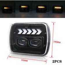 "5x7"" Off Road Car Square Headlight Angel Eye Diaphragm Work White Light General"