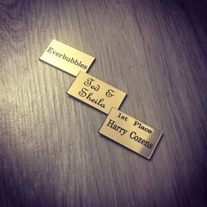 small plaque custom size choice of size 1, 5, 10, 20, 50 + brass, silver