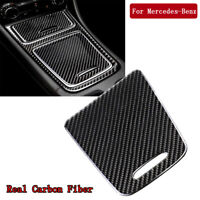Carbon Fiber Center Control Storage Cover Trim For Mercedes Benz CLA GLA A-Class