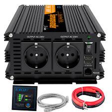 1500W 3000W Inversor Onda Pura 12V 220V Convertidor Inverter Control Remoto USB