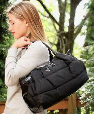 Kate Spade Stevie Alpine Hills Nylon Puffer Shoulder Bag Purse Black Puffy