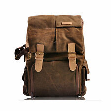 Waterproof Canvas Camera Backpack Rucksack Bag For Canon EOS 5D MARK III / II