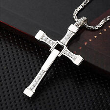 New Fast Furious Vin Diesel Dominic Toretto's Cross Pendant Necklace Chain