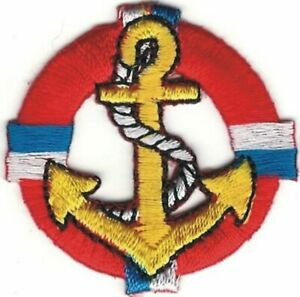 Anchor Life preserver nautical embroidery patch