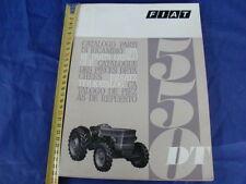 SUPPLEMENTO CATALOGO PARTI DI RICAMBIO TRATTORE FIAT 550 DT 1969 1° EDIZIONE