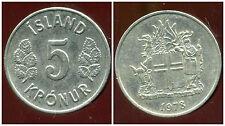 ISLANDE 5 kronur     1978