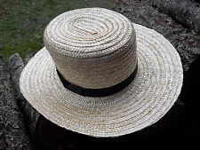 "BRAND NEW GENUINE Pennsylvania  AMISH HAND MADE STRAW HAT MEN'S SIZE 8""  inch"