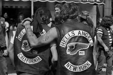 Hells Angels Motorcycle Gang 1970's Rally 8.5x11 Photo
