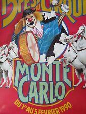 Affiche Cirque /15ème Festival international du cirque /  MONTE-CARLO 1990