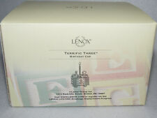 """Terrific Three"" Lenox Porcelain Birthday Car Figure #6148613 - Mib"