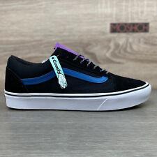 Vans Old Skool Comfycush UK 8 Black White Navy Blue Purple