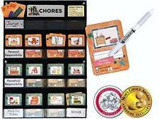Neatlings Chore Chart System | 1 Child | 80+ Chore | Teal & Orange Cards 00004000