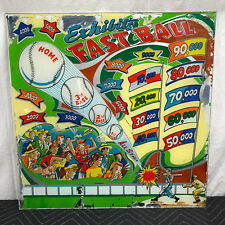 Classic Exhibit Fast Ball Baseball Pinball Machine Game Backglass