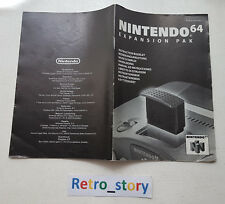 Nintendo 64 N64 Expansion Pak Notice / Instruction Manual